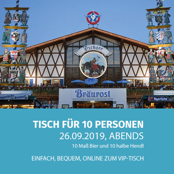 Pschorrbräurosl2609Abend Tischreserveriung Oktovberfest